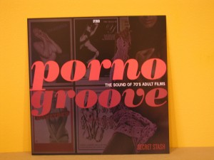 "12""x12"" replica of the Porno Groove album cover"