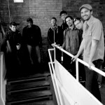 Sonny Knight And The Lakers On The StairsBW