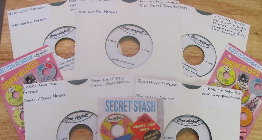 Some dub plates and flyers put together by the head of our UK division, Mark Bicknell.